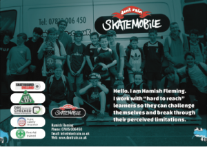 Skatemobile Leaflet for schools